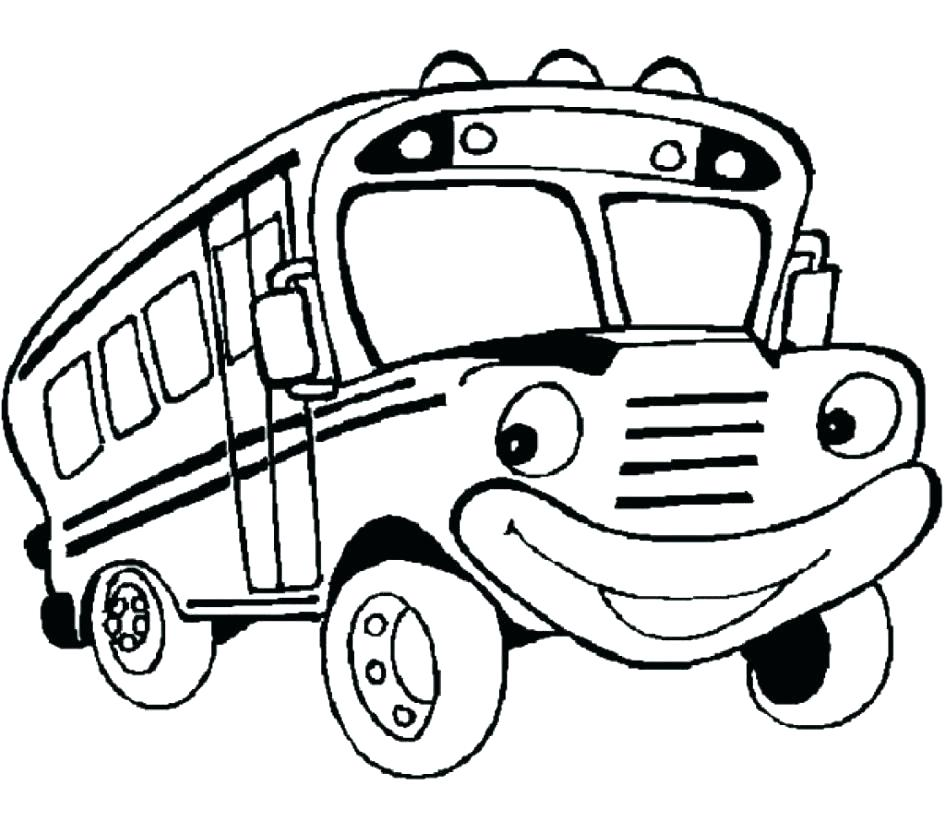 945x832 School Bus Coloring Page As Well As Black And White School Bus
