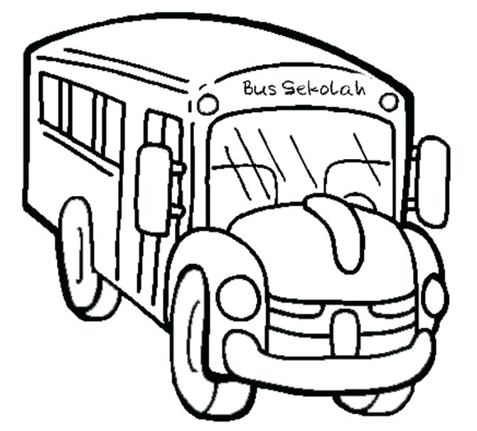 671x607 School Bus Coloring Page Coloring Pages School Bus School Bus