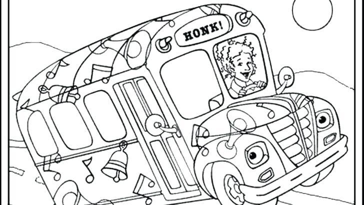 728x409 School Bus Coloring Pages Magic School Bus Coloring Lesson Kids