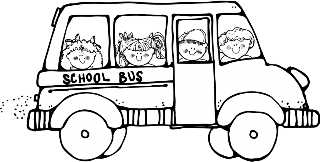 1024x520 School Bus Safety Coloring Pages