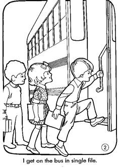 236x334 School Bus Safety Coloring Pages