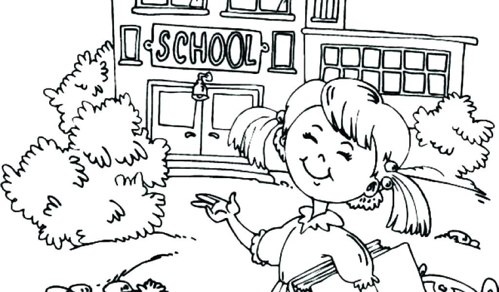 1024x600 School Coloring Pages Middle School Coloring Pages Also Back