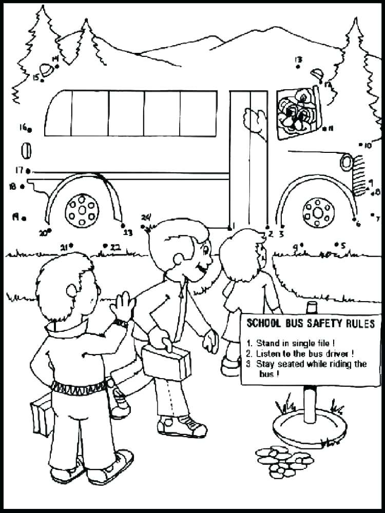 750x1000 School Rules Coloring Pages Bus Safety Coloring Pages Gallery