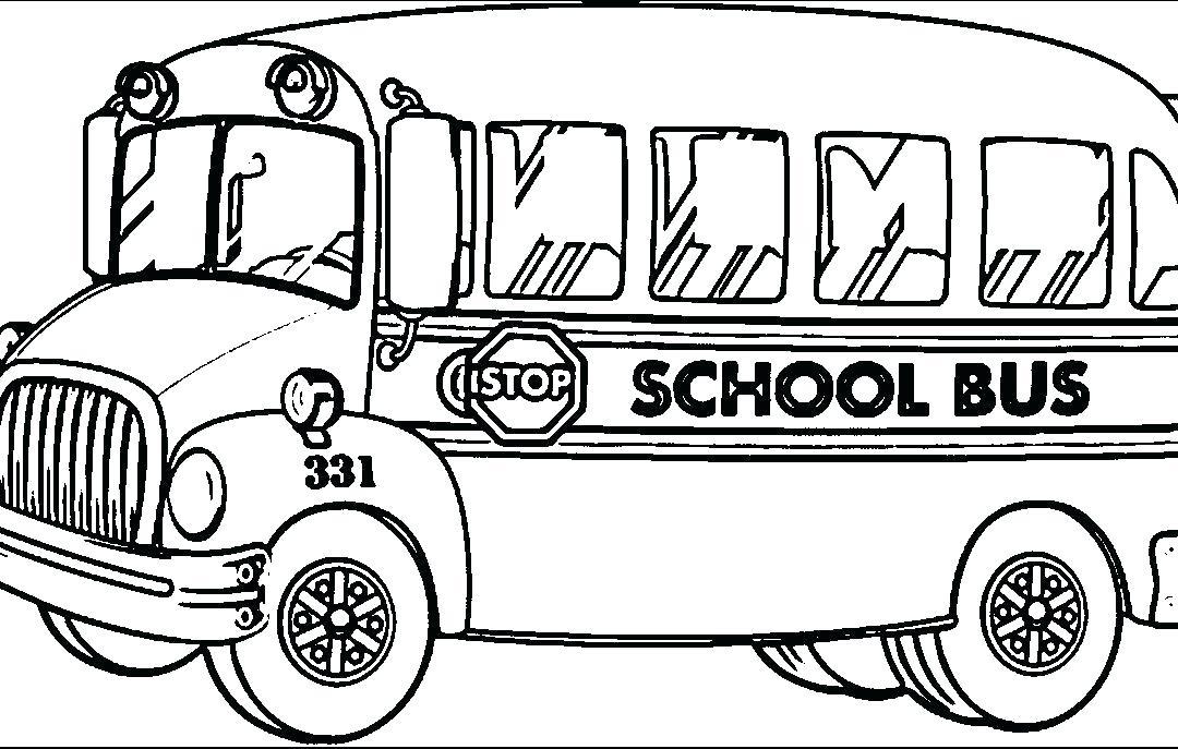 1080x687 School Bus Coloring Picture