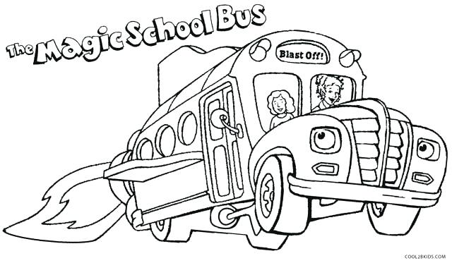 640x373 Bus Coloring Page Transportation Free School Bus Safety Coloring