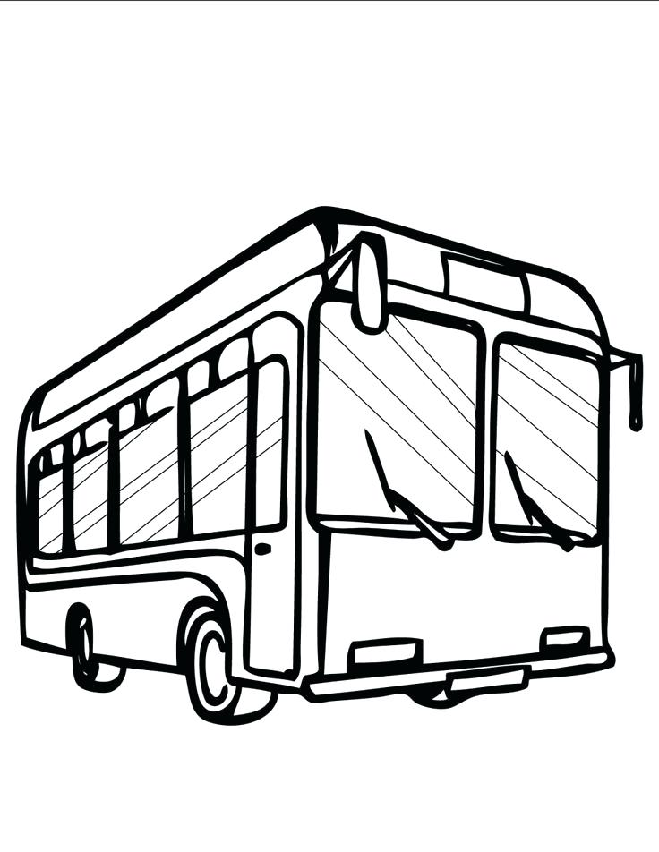 736x952 Bus Coloring Pages Best School Bus Coloring Page Picture Bus