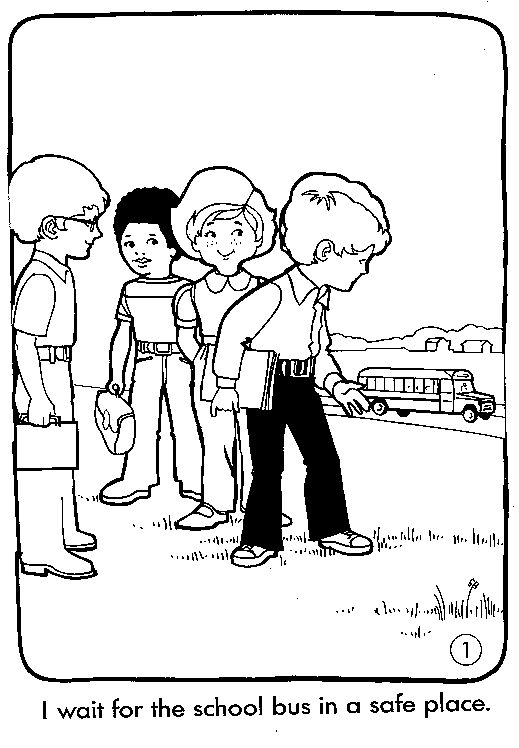 519x748 Bus Safety Coloring Pages