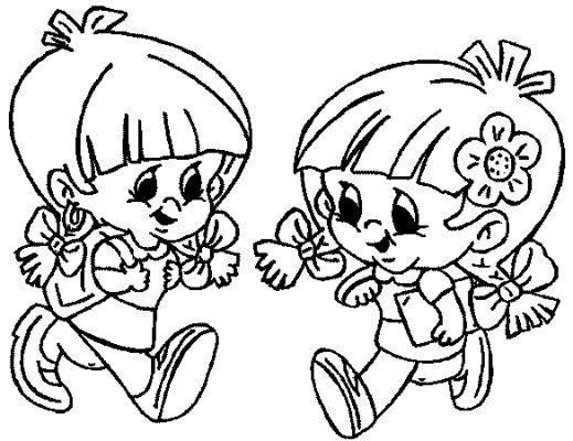 519x400 First Day Of School Kids Coloring Pages Gtgt Disney Coloring Pages