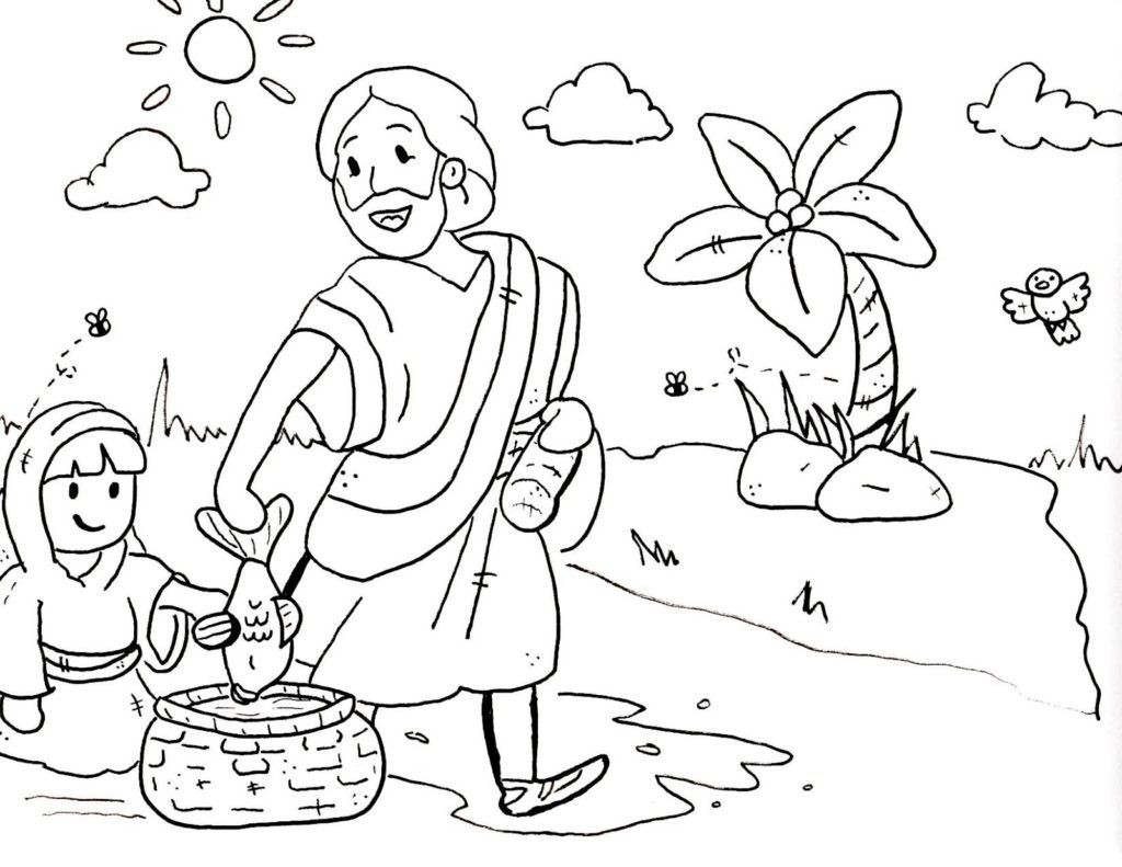 1024x791 Inspiring Bible Coloring Pages For Sunday School Kids With New