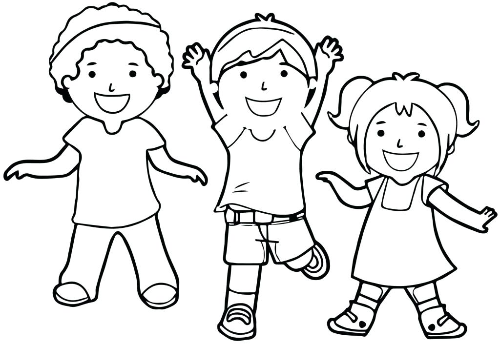 1024x707 Interesting Sharing Coloring Page School Kids Sharing Kids
