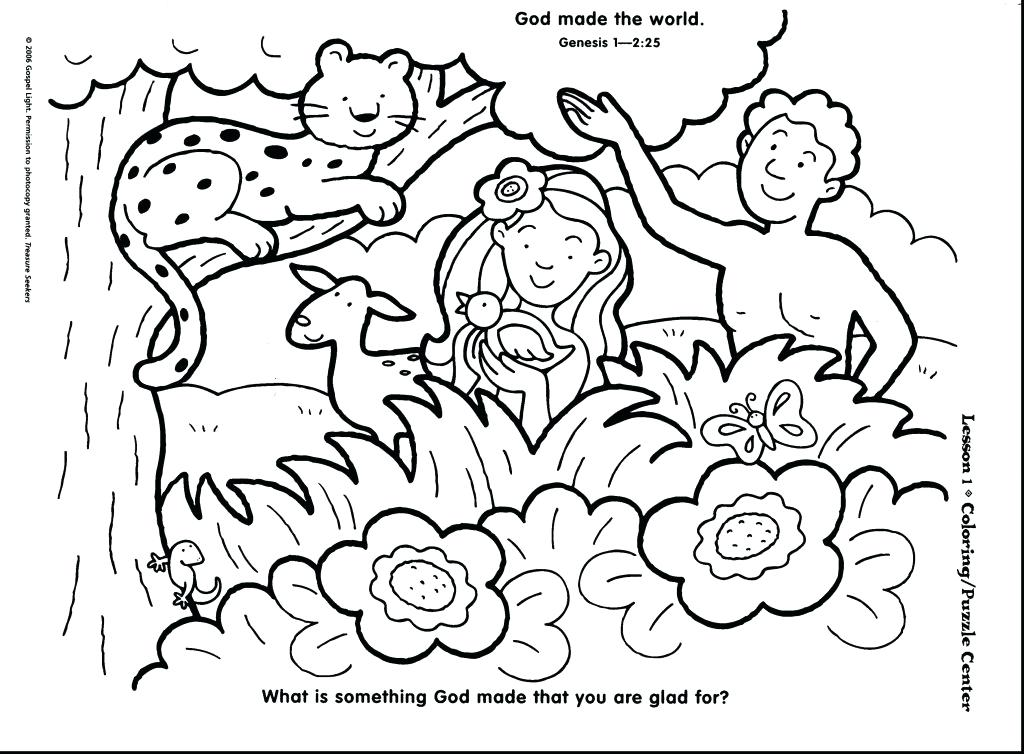 1024x754 The Creation Coloring Pages For Children Coloring Pages Birth