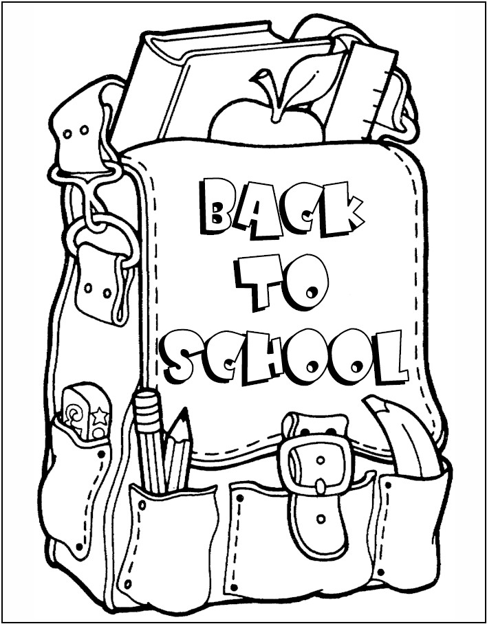 708x908 Back To School Coloring Sheets Fancy Free Back To School Coloring