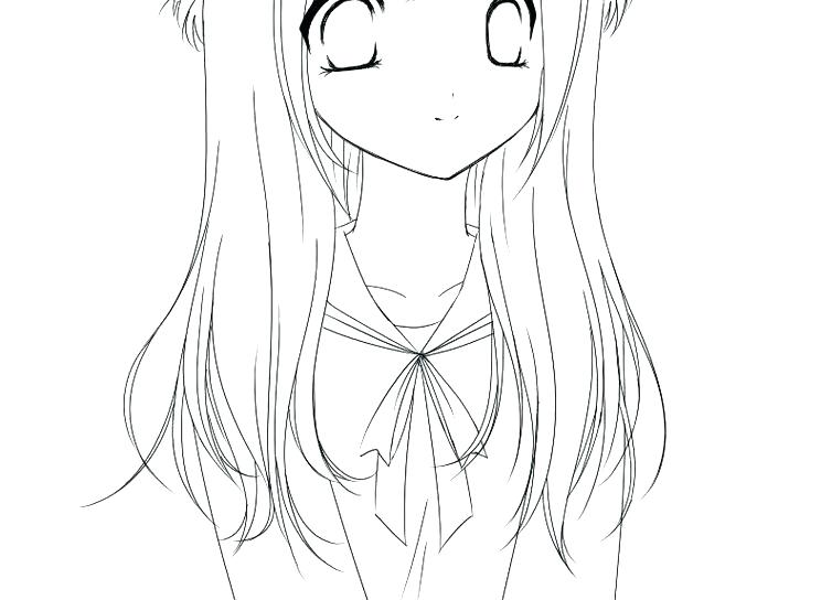 744x544 Free Girl Coloring Pages Cute Girl Coloring Pages Anime To Print