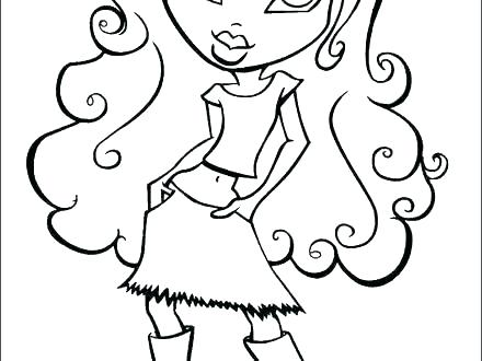 440x330 School Girl Coloring Pages Anime School Girl Cute Coloring Page