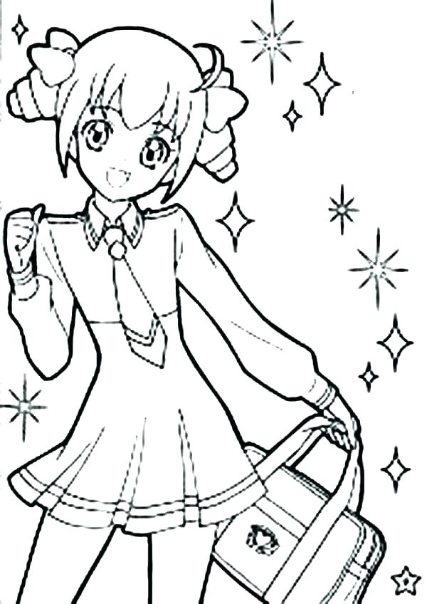 600x848 Anime Girl Coloring Pages Pages To Print Cool Anime Coloring Cool