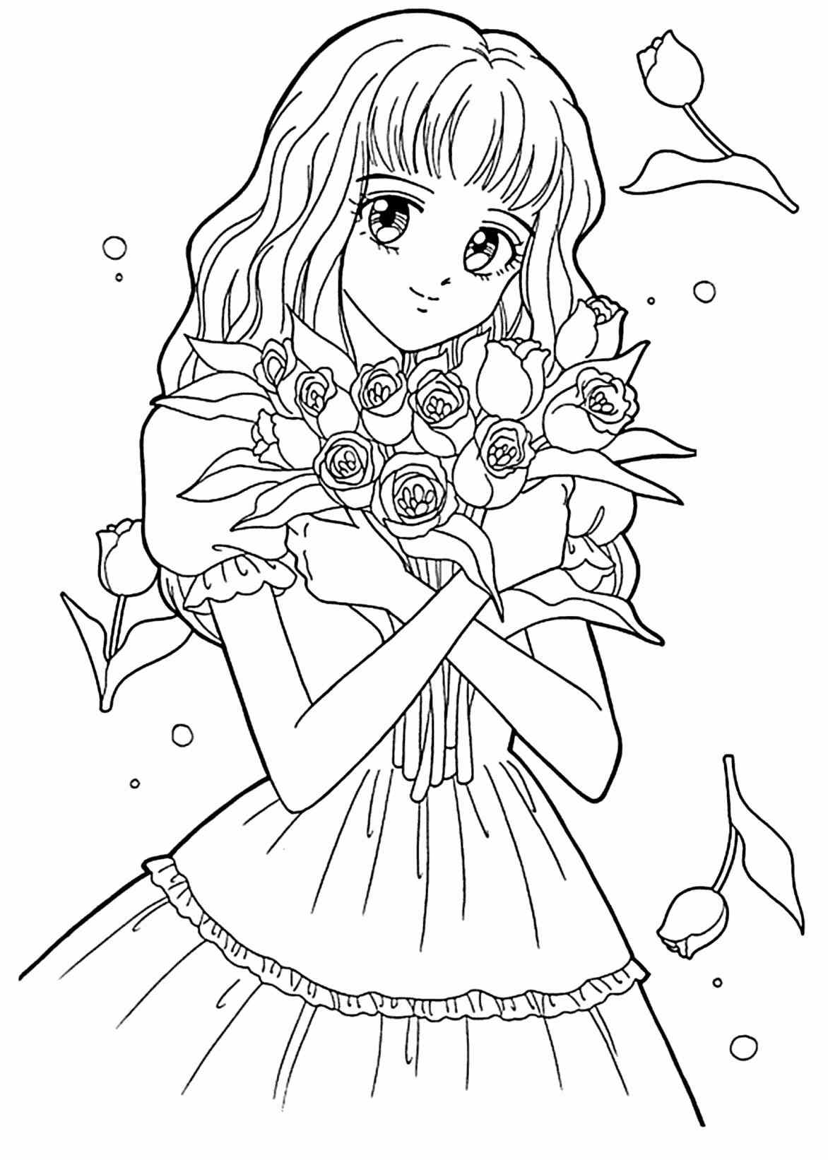 1172x1642 Anime School Girl Coloring Pages Bgcentrum