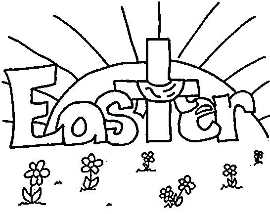 546x433 Preschool Easter Coloring Pages Christian