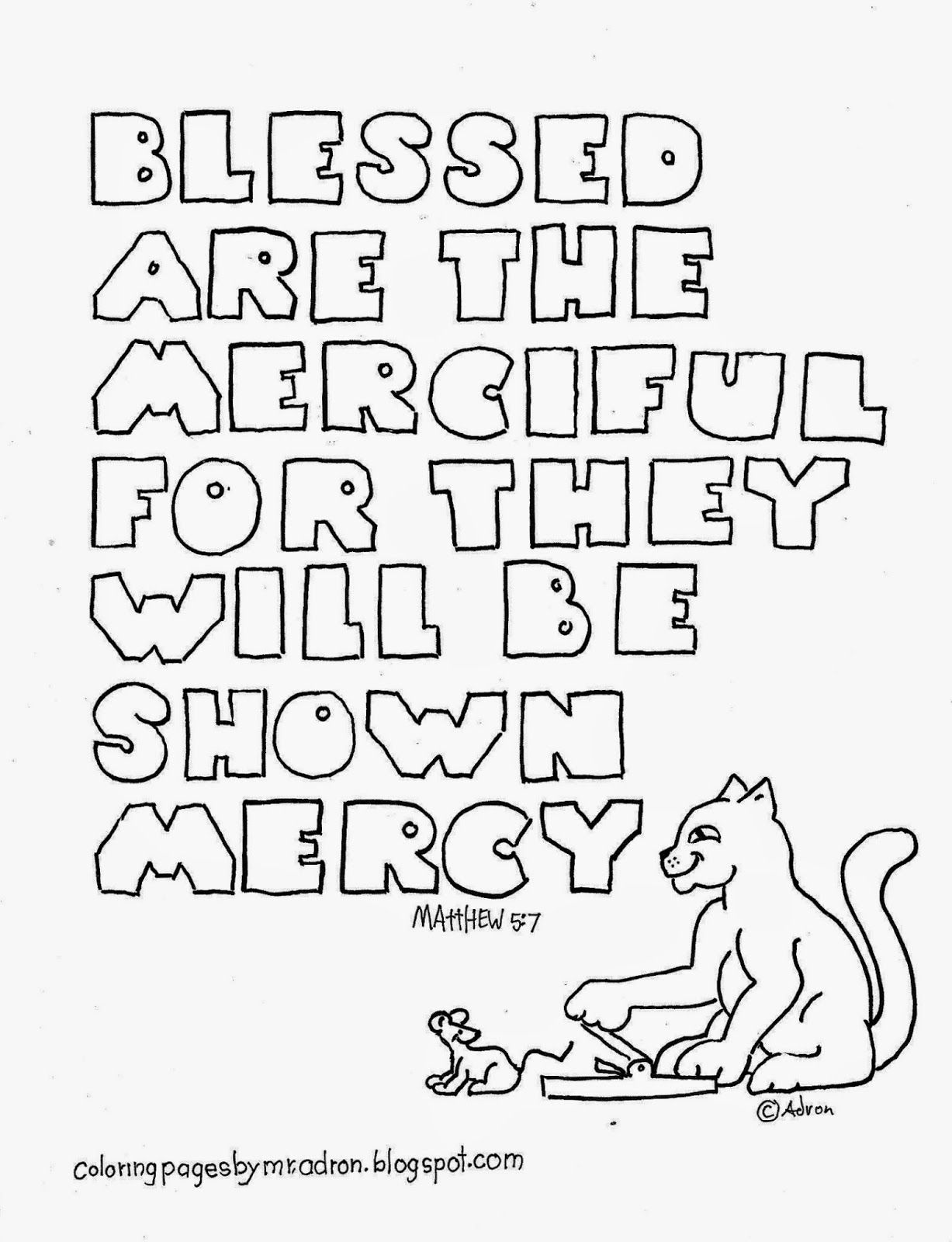 1227x1600 Blessed Are The Merciful Coloring Page See More