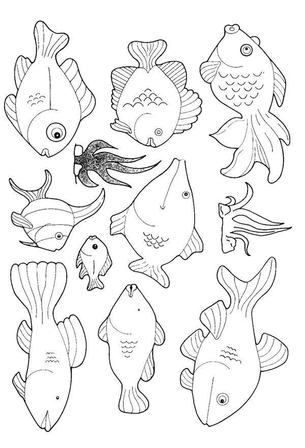 600x882 Kleurplaat Vissen Coloring Page Fish Kids N Fun