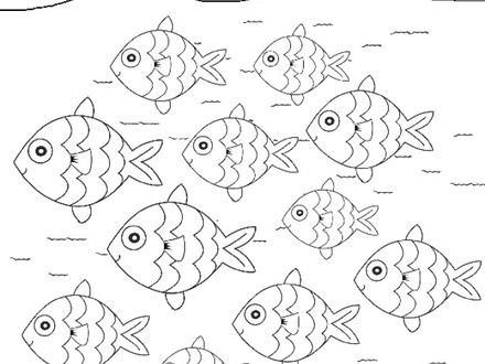 440x330 Modern School Of Fish Coloring Pages Vignette