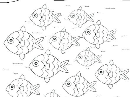 440x330 School Of Fish Coloring Pages School Of Fish Collective Nouns