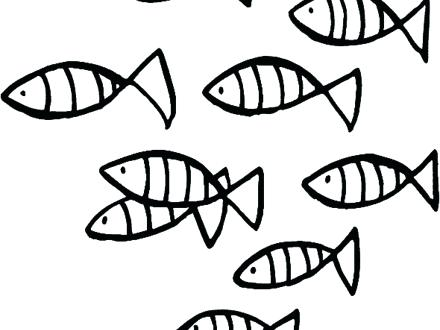 440x330 School Of Fish Coloring Pages School Of Fish Color Page Sunday