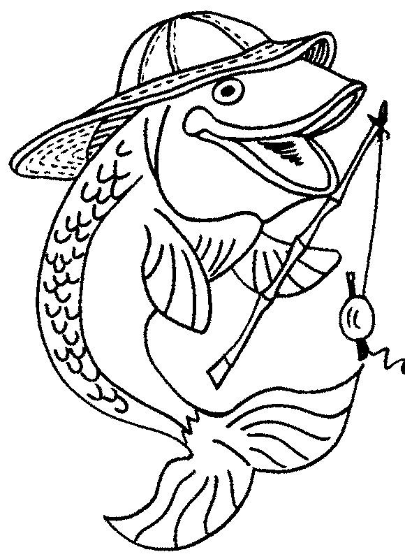 580x800 Fish Coloring Pages Free Download