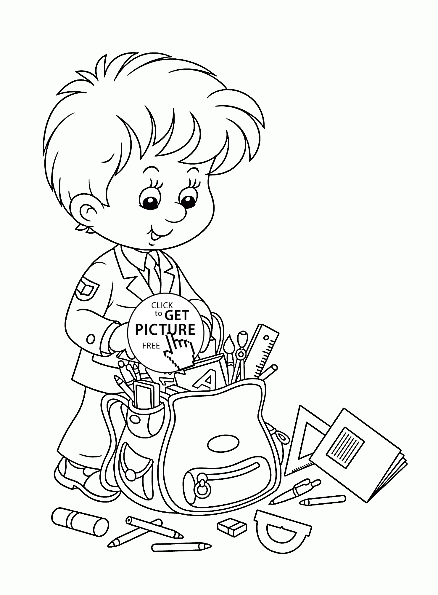 1480x2007 New Free Coloring Pages School Supplies Collection Great