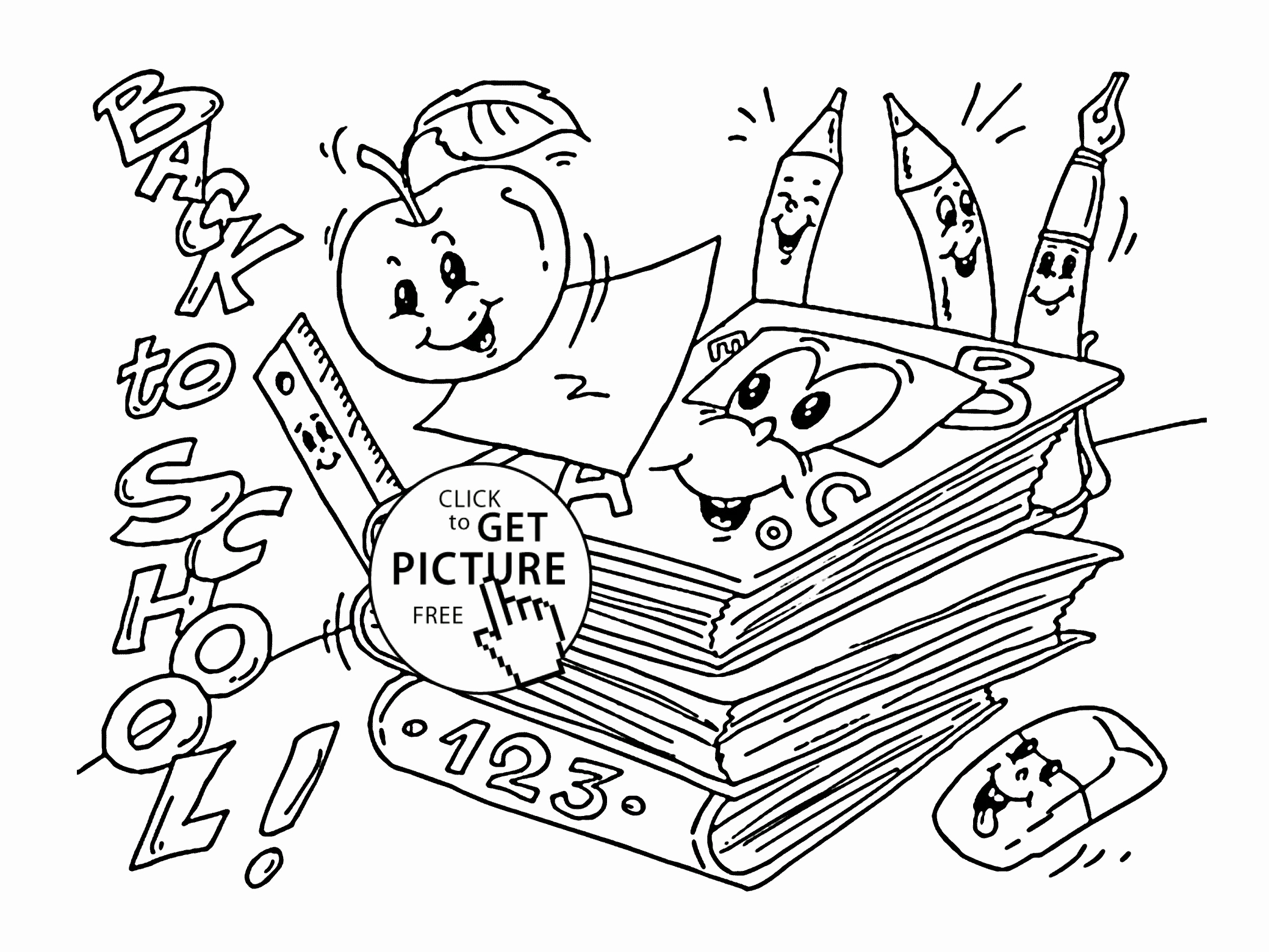 2080x1561 School Coloring Pages New School Supplies Coloring Pages