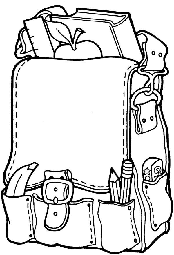 600x880 School Supplies Coloring Pages