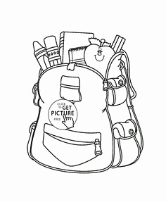 236x287 School Supplies Coloring Pages Printables Images Cute Schoolgirl