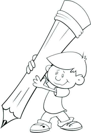 358x525 School Supplies Coloring Pages School Supplies Coloring Pages