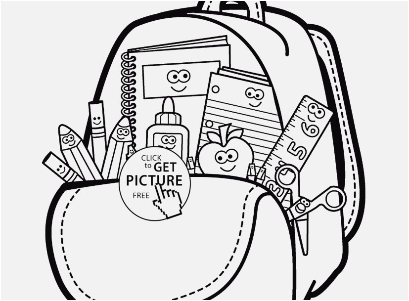 827x609 Free Coloring Pages For Boys Graphic Cartoon School Supplies