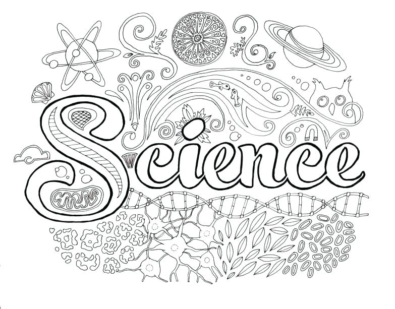783x613 Coloring Pages Science Science Color Pages Science Coloring Pages