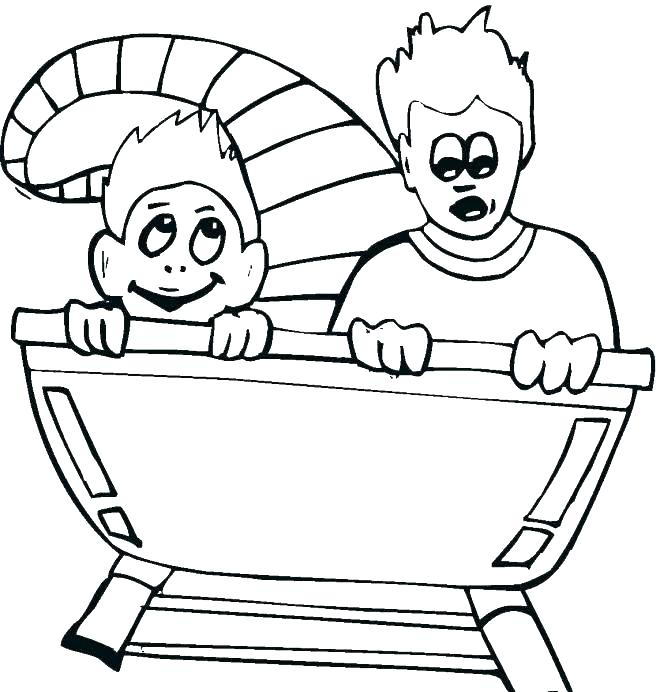 660x692 Fair Coloring Pages At The Fair Roller Coaster Science Fair