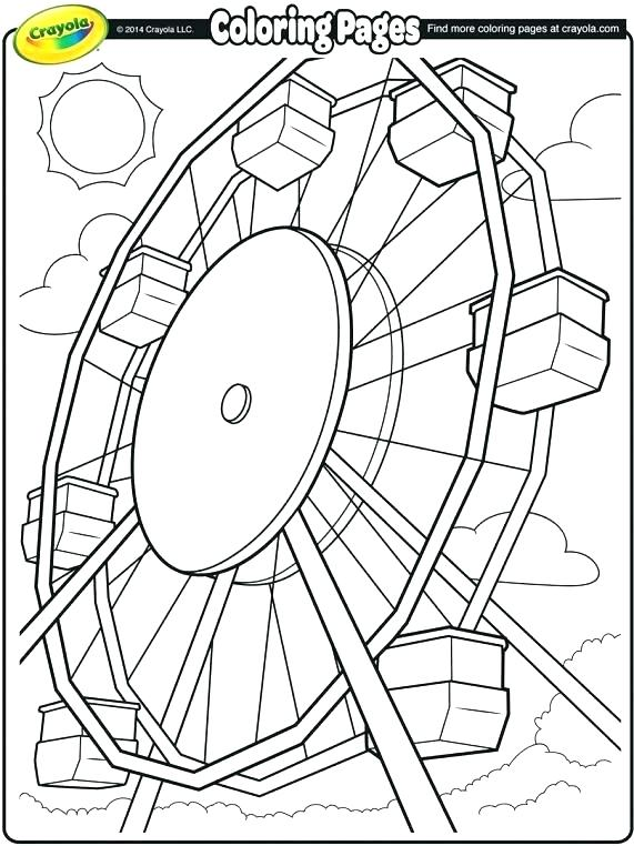 571x762 Fair Coloring Pages Carousel Horse Coloring Page For Fair Coloring