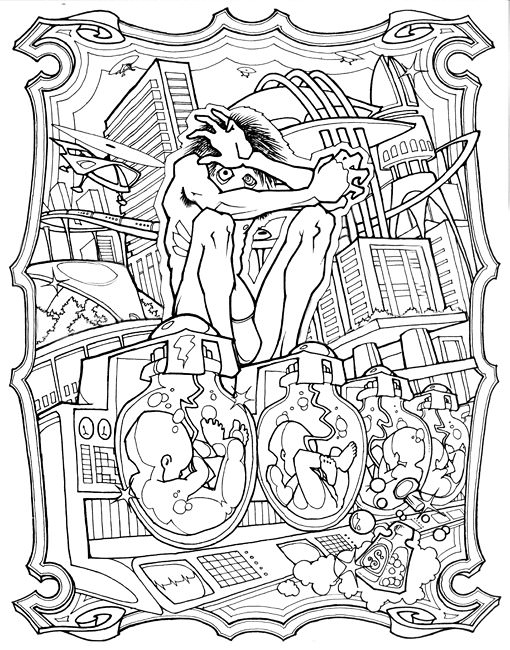 510x650 Science Fiction Coloring Pages