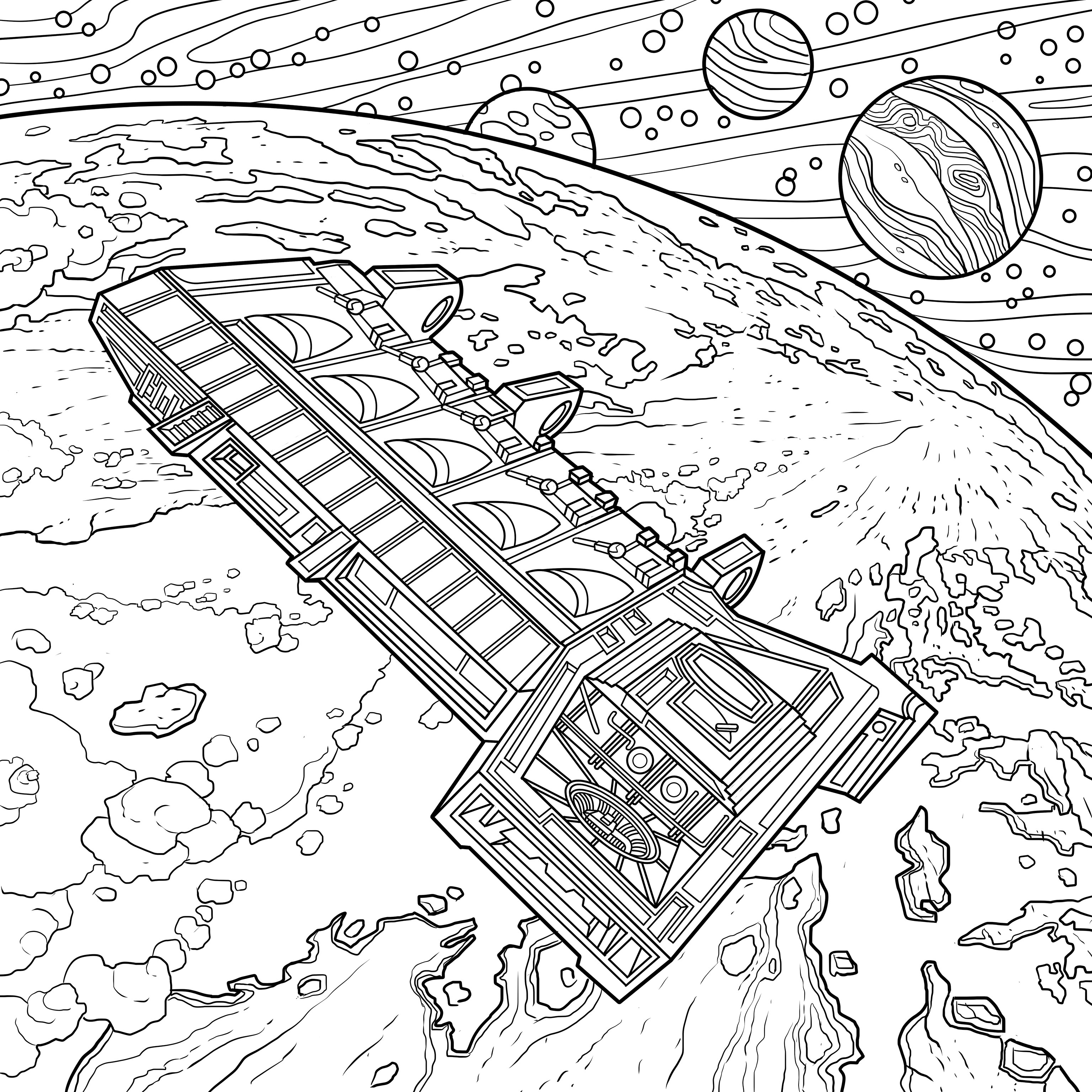 3071x3071 Alien The Coloring Book Features A Franchise Full Of Iconic Sci
