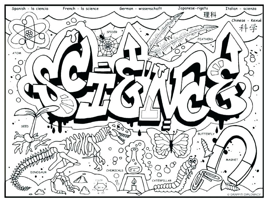 878x667 Coloring Page Science Is Fun Coloring Sheet Science Coloring Page