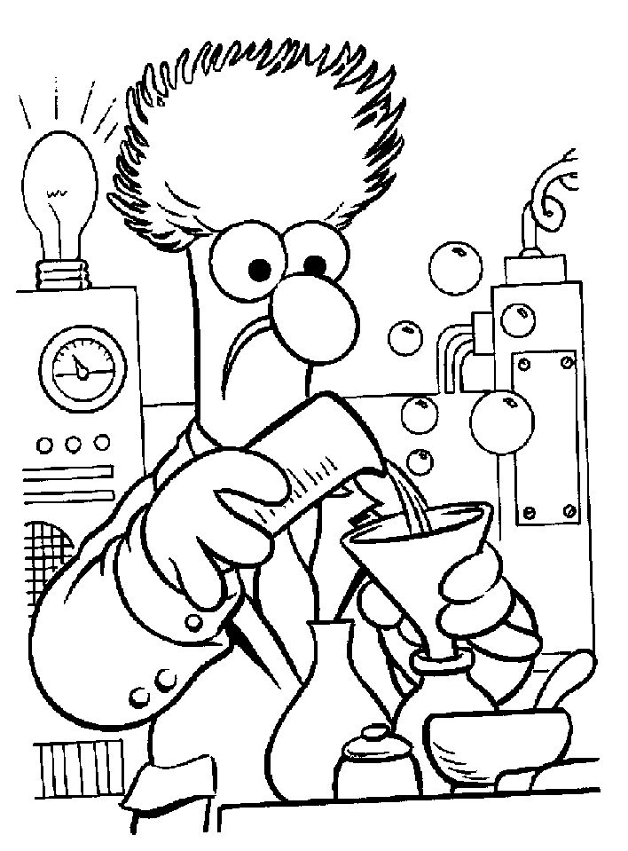 Science Lab Coloring Pages