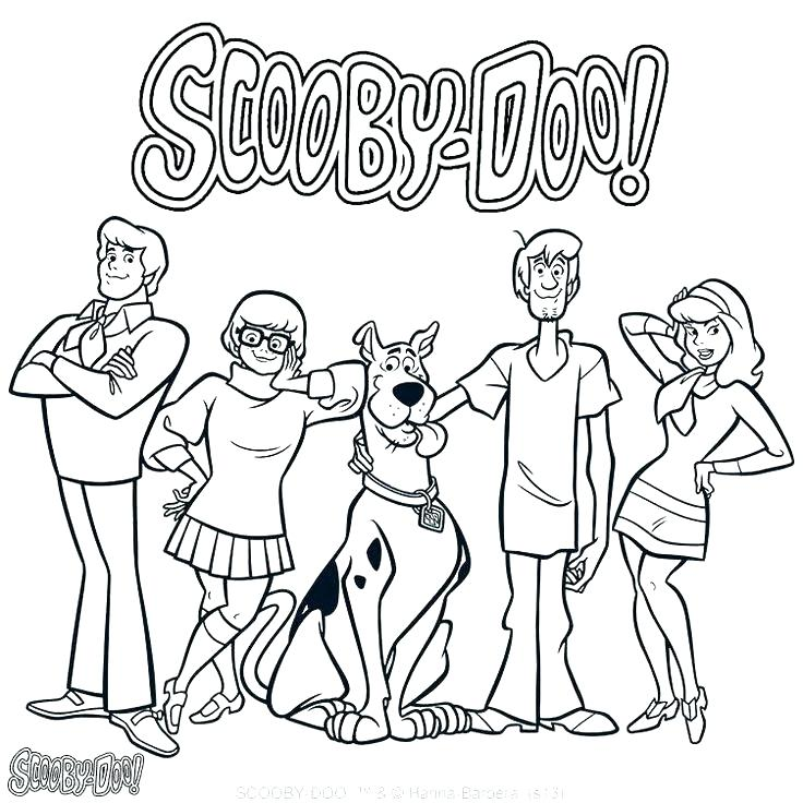 736x736 Scooby Doo Color Pages Coloring Sheets Main Characters Coloring