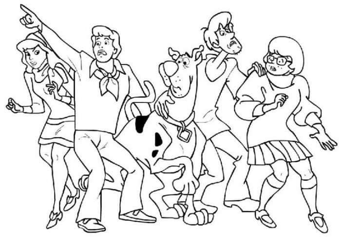 700x494 All Characters In Scooby Doo Coloring Page Animal Pages