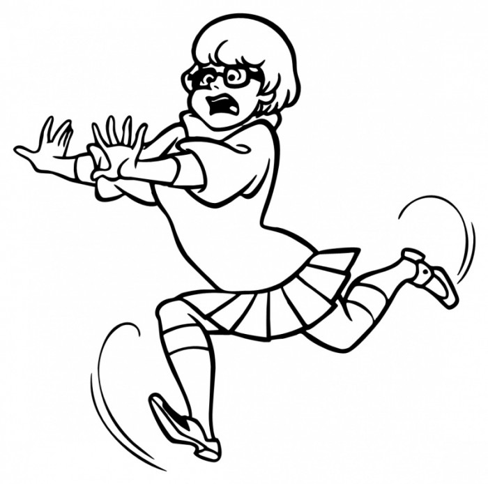 700x694 Scooby Doo Velma Running Position Coloring Pages