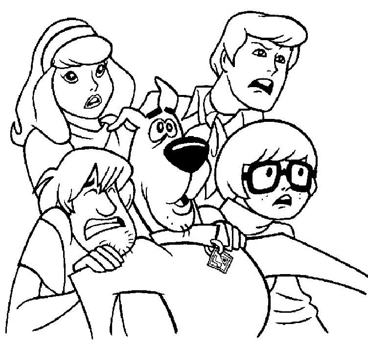 752x709 Scooby Doo And Gang Coloring Pages Free Printable Scoo Doo
