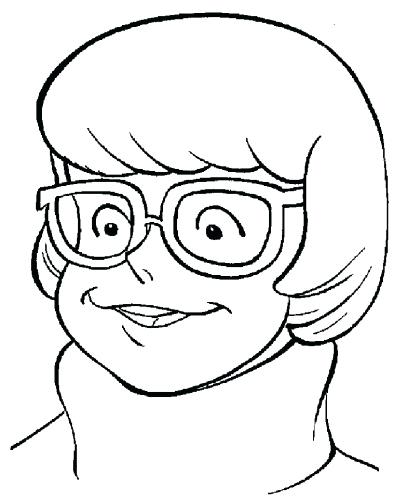 394x500 Scooby Doo Coloring Pages Velma