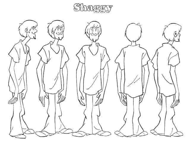 640x480 Shaggy Character Scooby Doo Coloring Coloring Pages