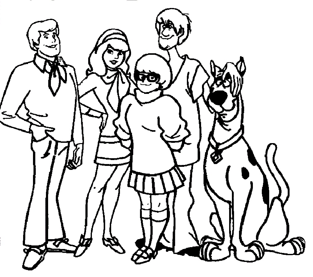 1015x900 Best Printable Scooby Doo Coloring Pages Free Printable