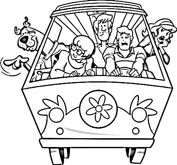 600x560 Scooby Doo And Gang Coloring Pages Free Scoo Doo And Friends