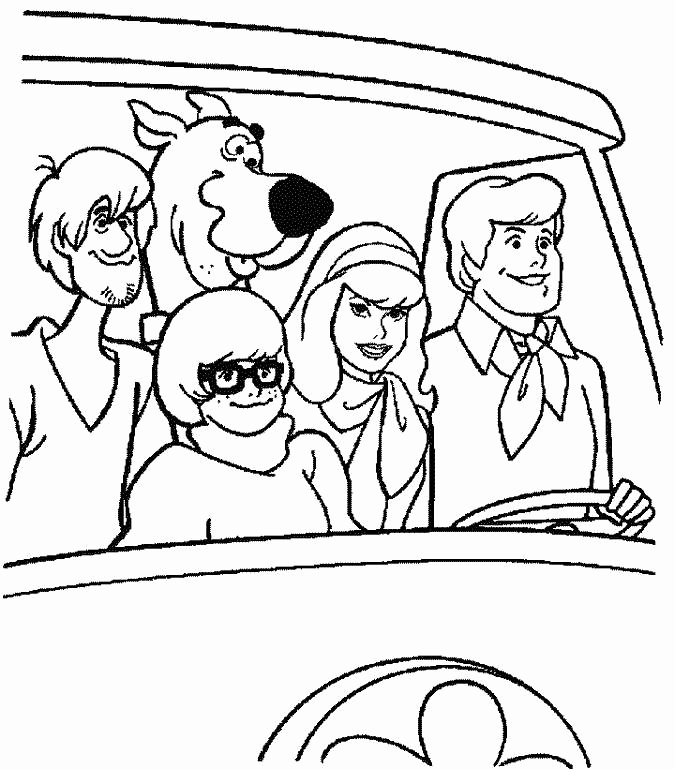 Scooby Doo Gang Coloring Pages