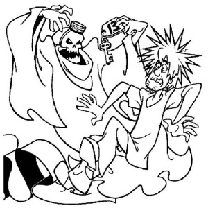 300x300 Ghost, Shaggy Scooby Doo And Thirteen Ghost Coloring Page Shaggy